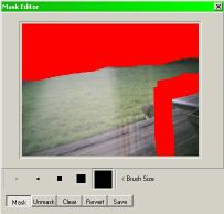 Netcam Watcher Professional lets you mask areas  so that motion detection is not applied to  the masekd areas.