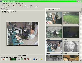 Network Camera Recorder main screen that lets you concentrate on a single camera while keeping an eye on the others.